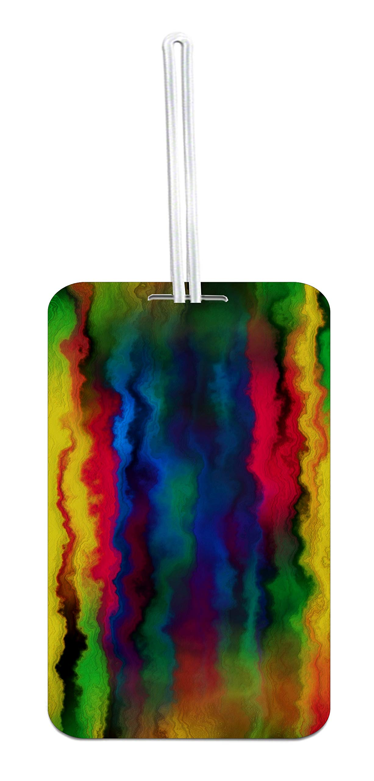 Watercolor Abstract Design Double Sided Luggage Identfier Tag