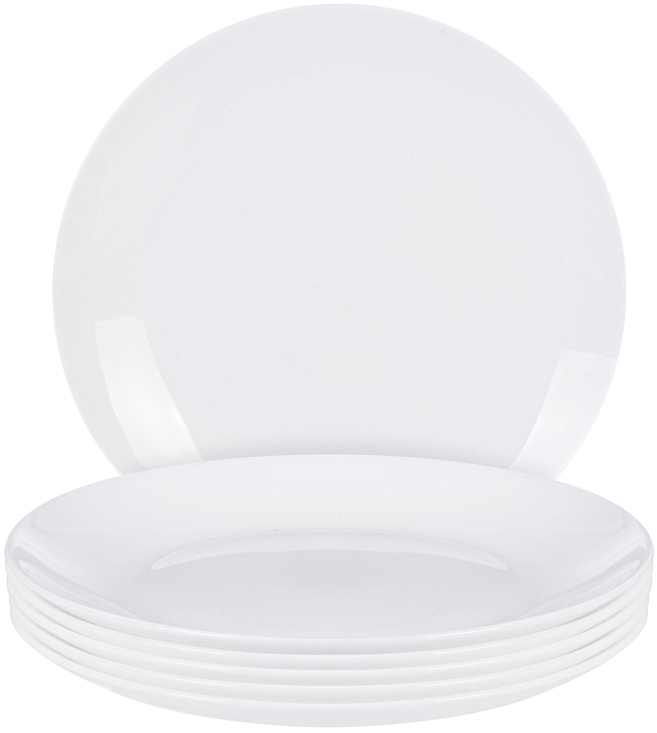 Utopia Kitchen 6 Pieces salad Plate Set - Dishwasher Safe Opal Glassware - Microwave/Oven Friendly