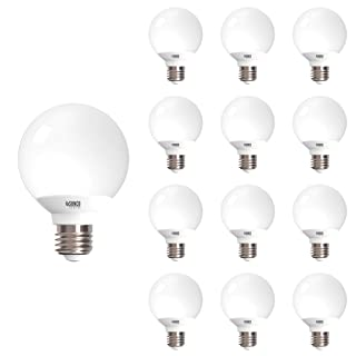 Sunco Lighting 12 Pack G25 LED Globe, 6W=40W, Dimmable, 450 LM, 3000K Warm White, E26 Base, Ideal for Bathroom Vanity or Mirror - UL & Energy Star