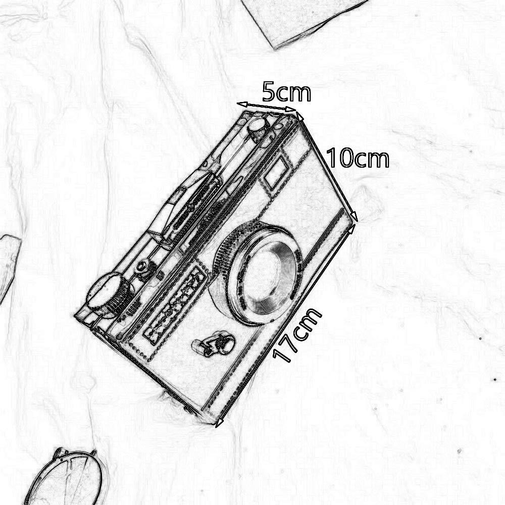 Farbe : Elegant Black RKY Umh/ängetasche personalisierte vielseitige Kette Umh/ängetasche Mode Retro Kamera Slant Kameratasche 6 Farben erh/ältlich //-// PU//Stoff