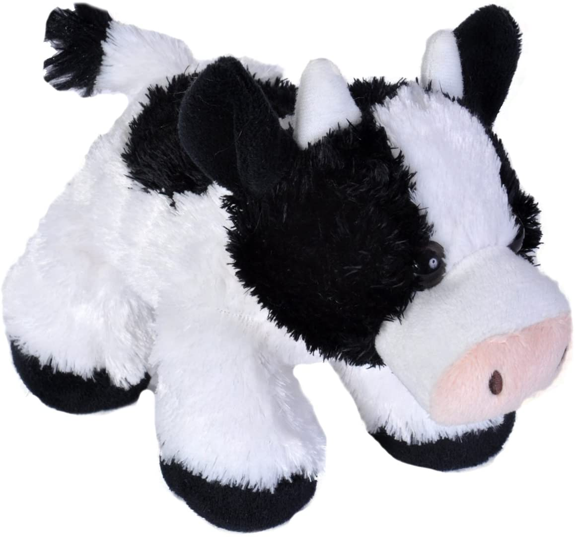 Wild Republic Cow Plush, Stuffed Animal, Plush Toy, Gifts for Kids, Hug'Ems 7 inches