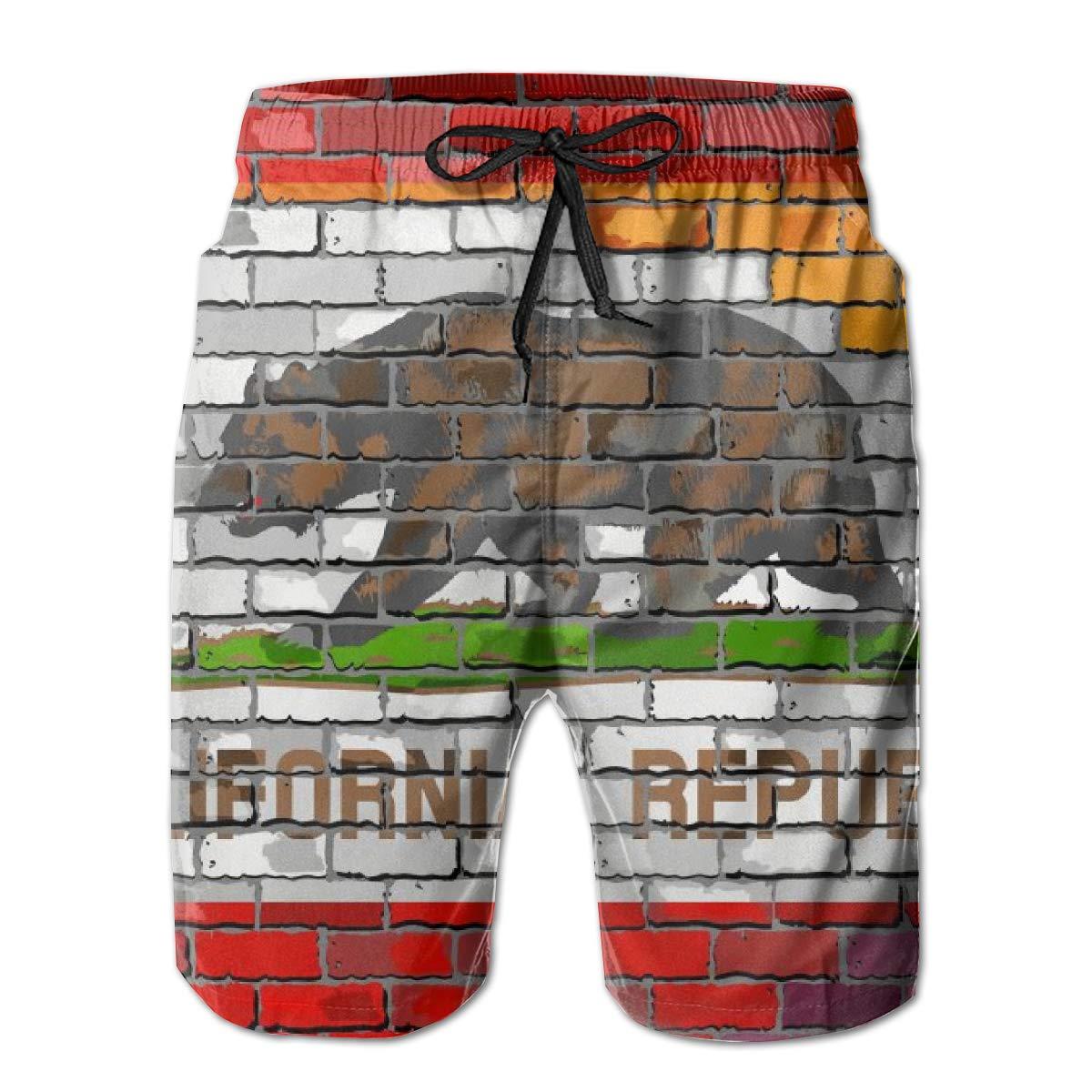 Mens Hawaiian Casual Swim Trunks Quick Dry Novelty Board Shorts Swimwear Pants