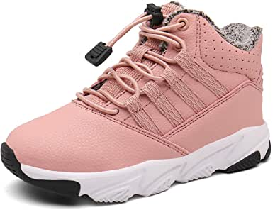 Botas Niños Botas de Senderismo para Niña Botas de Nieve Zapatos de Algodón Impermeable Bota de Invierno Zapatillas Calientes Zapatos de Deporte