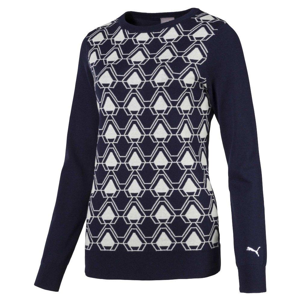 Puma Golf Women's 2018 Dassler Sweater, X-Small, Peacoat