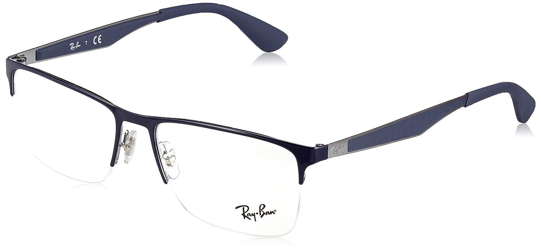 0a95698cffab Amazon.com  Ray-Ban Men s 0rx6335 No Polarization Rectangular Prescription  Eyewear Frame Black 54 mm  Clothing
