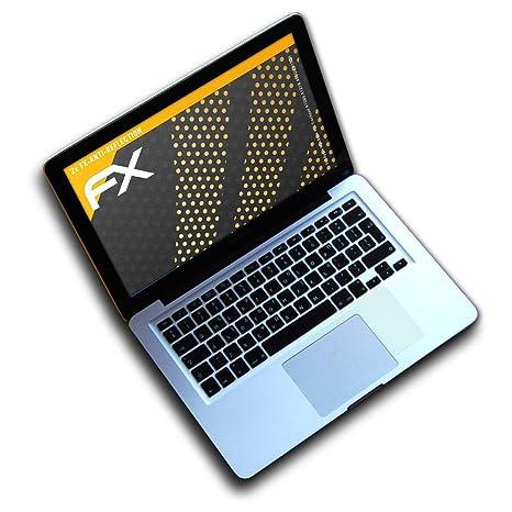 2X atFolix Panzerfolie kompatibel mit Apple MacBook Pro 15 Retina Schutzfolie entspiegelnde und sto/ßd/ämpfende FX Folie