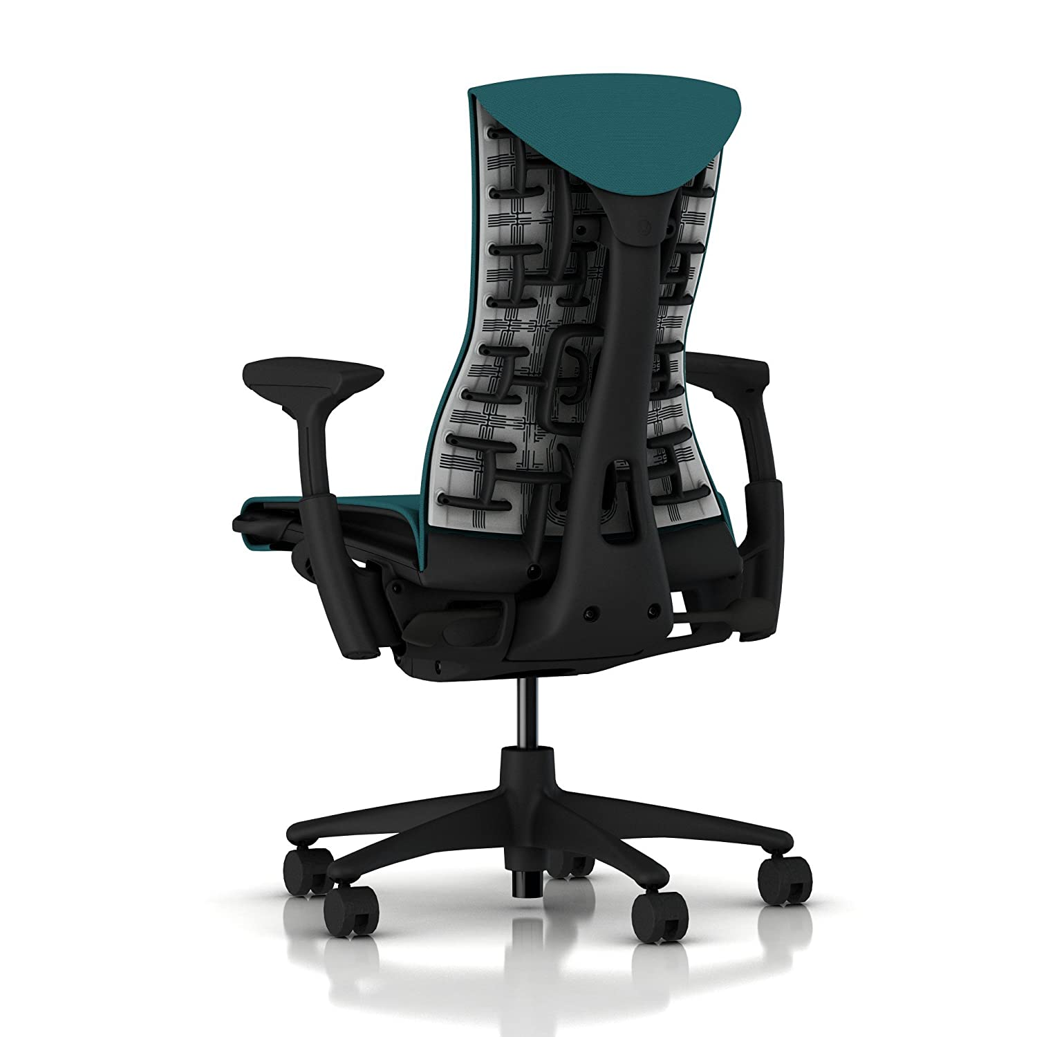 Herman Miller Embody Ergonomic Office Chair Fully Adjustable Arms and Carpet Casters Peacock Rhythm
