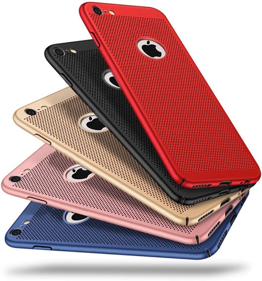 Case for iPhone 7, Ultra Slim/Thin Lightweight Breathable Cooling Mesh Case,Compatible with iPhone 7 Case(Red)