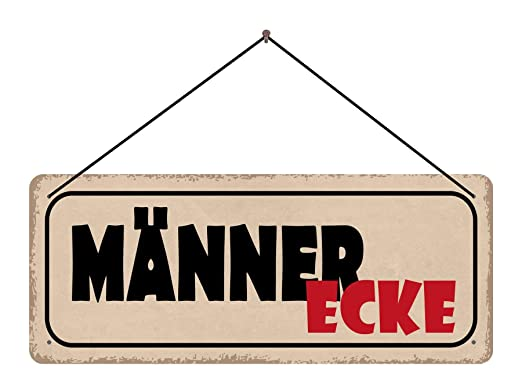 BlechschilderWelt Cartel para Hombre, Esquina con cordón ...