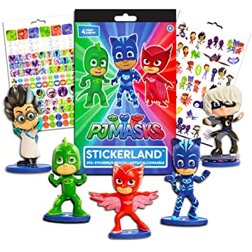 PJ Masks Figures Set with Stickers -- Pack of 5 Action Figures and Over 200