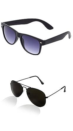 9e0d57829d Image Unavailable. Image not available for. Colour  Sheomy Aviator and Wayfarer  Unisex Sunglasses Combo(SUN-0000009MEN