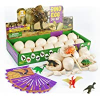 Touber Dinosaur Eggs Excavation, Dig a Dozen Dino Eggs Kit Dinosaur Eggs for 4-11 Year Olds Kids Easter Gifts for 5-12…