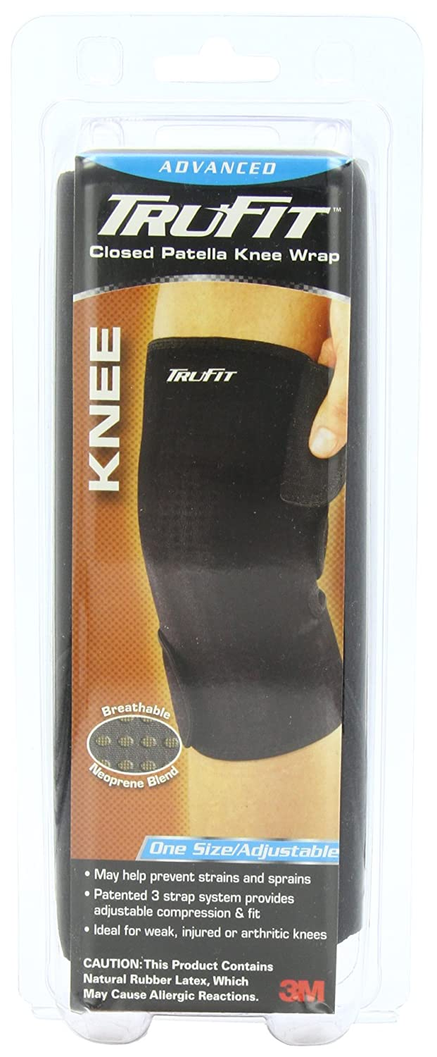 b8676cd64a Amazon.com: Tru-Fit Aerated Knee Brace, Black, One Size - Adjustable:  Health & Personal Care