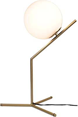 EQLight EQMCTB03 Light Mid Century Brass Table/Desk Lamp
