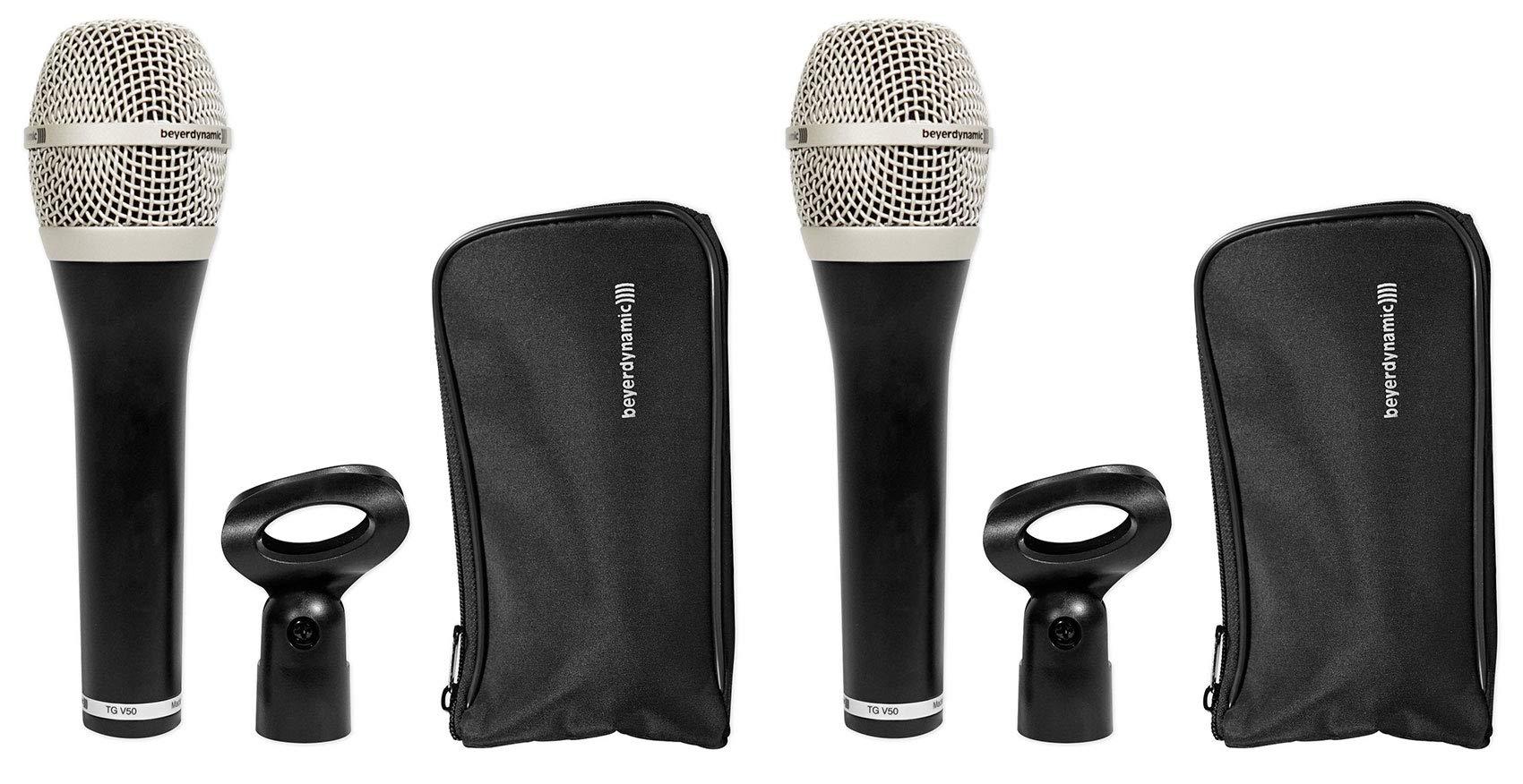 (2) Beyerdynamic TG-V50 Cardioid Dynamic Stage Vocal Microphones Mics