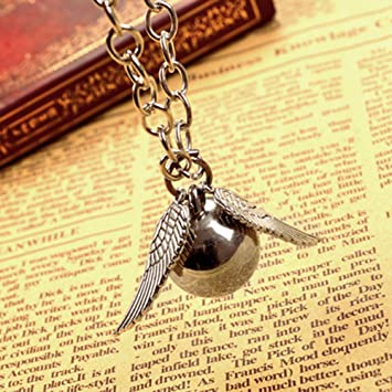 Harry Potter snitch dorada del encanto del collar colgante ...