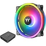 Thermaltake Riing Trio 200mm 16.8 Million RGB Color (Alexa, Razer Chroma) Software Enabled 60 Addressable LED 11 Blades…