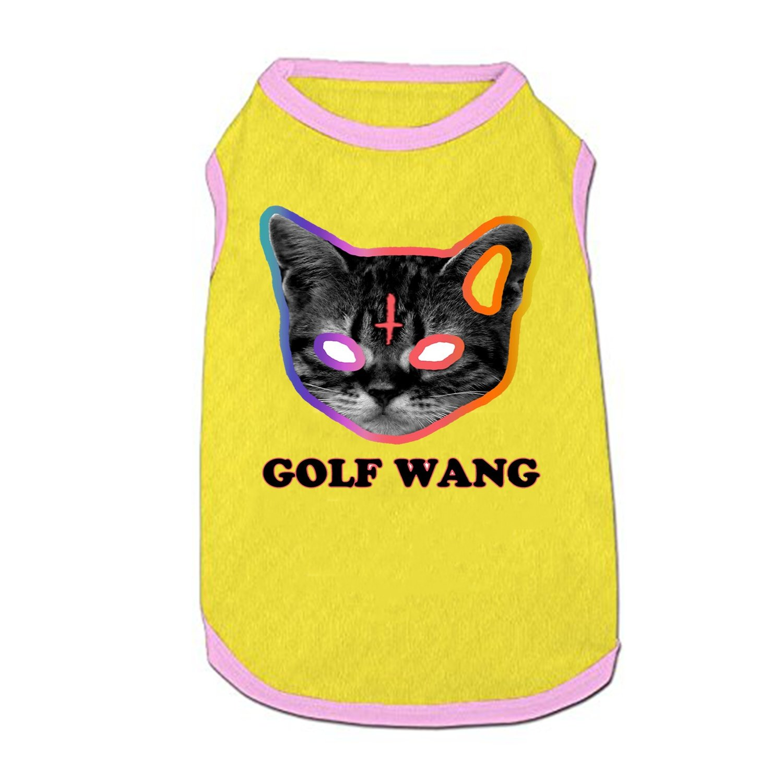 f148e3cf0148 Golf wang cat odd future pet clothes vest small dogs shirt cat puppy  sleeveless costumes pet