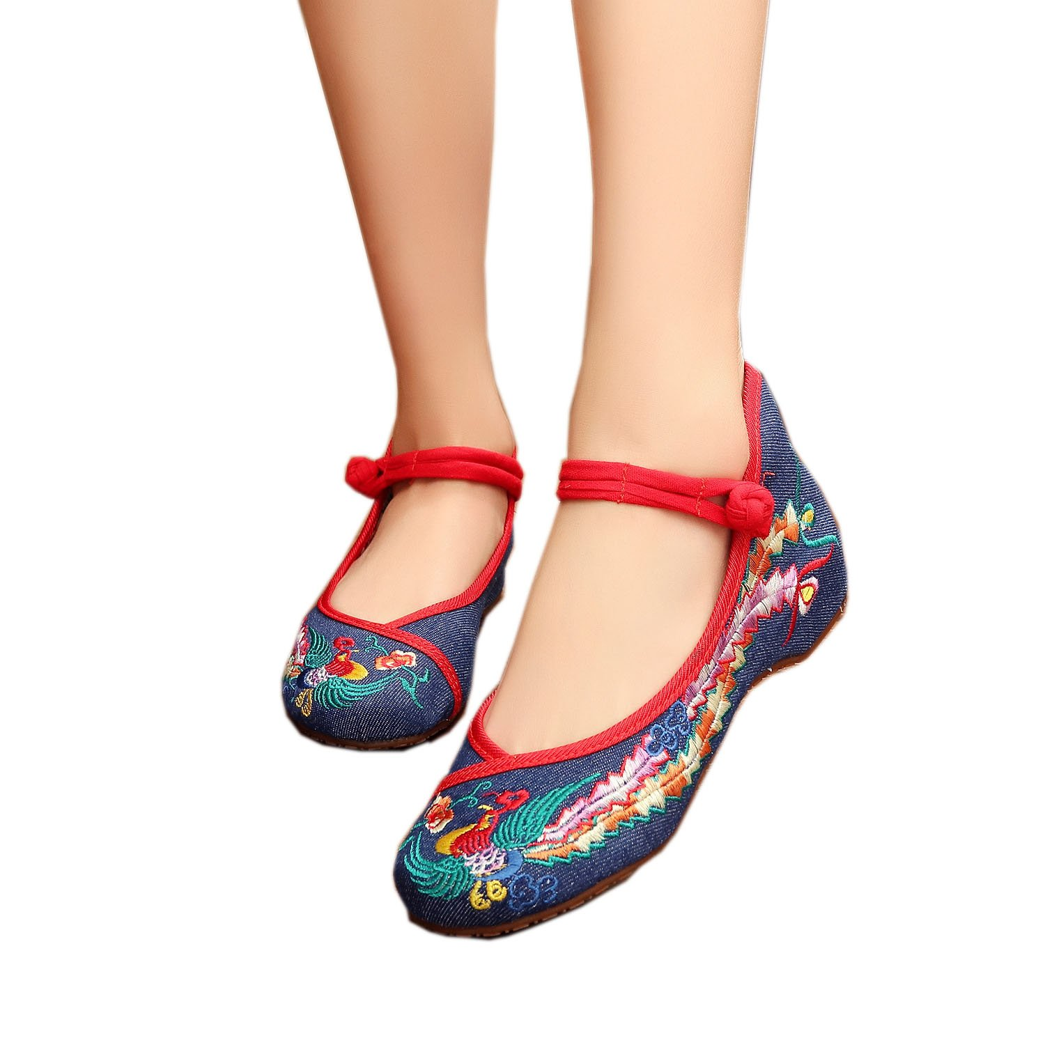 Women Embroidery Rubber Sole Summer Wedges Sandals Fashion Dress Shoes For Cheongsam