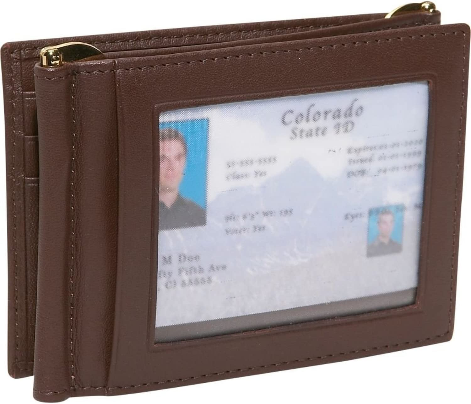 Royce Leather Mens Double Money Clip Credit Card Wallet in Leather Black