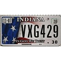 US Nummernschild INDIANA ~ License Plate USA In God We Trust ~ Auto-Kennzeichen KFZ Schild