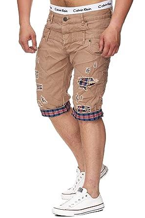 064d628b609e Herren Jeans Short für Den Sommer   mit Taschen   Modern   Freizeithosen im  Modernen Design   3149  Amazon.de  Bekleidung