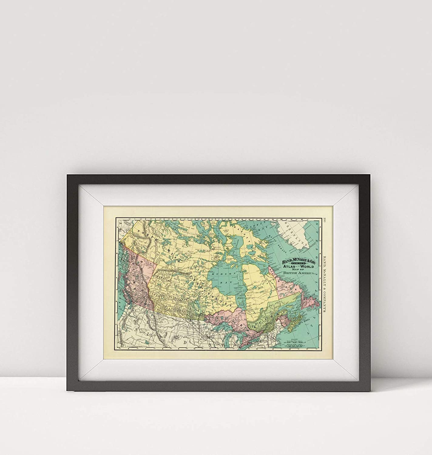 Amazon.com: 1897 Map of Canada|British America|Title: Rand, McNally ...