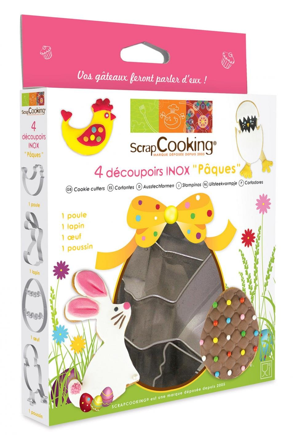 ScrapCooking Easter Cutters, Stainless Steel, Box of 4