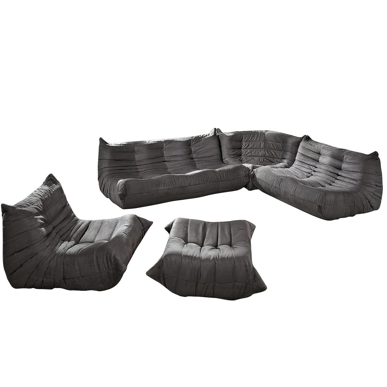 Amazon Lexington Modern Waverunner Modular Sectional Sofa Set