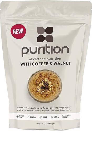 Purition Batido de proteínas de Café y Nogal (500g). Batido para el desayuno: Amazon.es: Salud y cuidado personal