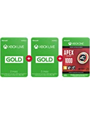 Abbonamento Xbox Live Gold 3 Mesi + 3 Mesi + 1,000 Apex Coins Gratuito |Xbox Live - Codice download