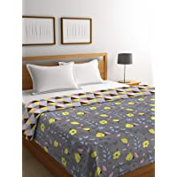 Trident His and Her Reversible Checkered Cotton Double Bed Dohar