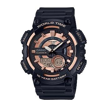 7d98c2bae33 Relógio Casio Standard Aeq-110w-1a3vdf Preto rosa  Amazon.com.br ...