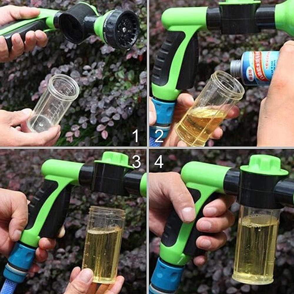 Pistola a Spruzzo 8 Spruzzi Diversi con Irrigazione Multifunzione dAcqua Regolabile Spruzzatore per Sapone//Fertilizzante FVE Pistola da Giardino