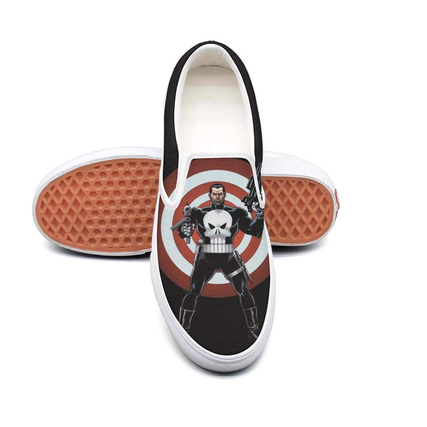 Womens 3D-Punisher-Skull Walking Shoes for Mens Spring Casual Shoes