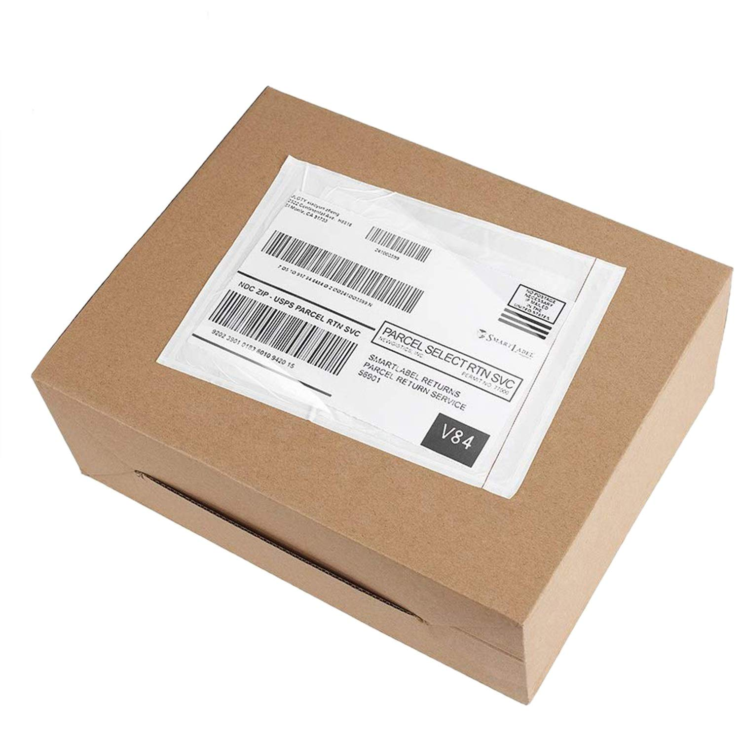 """Mail Pouches 6.5/"""" x 10/"""" Commercial Grade Shipping Label Pouches *branded*"""