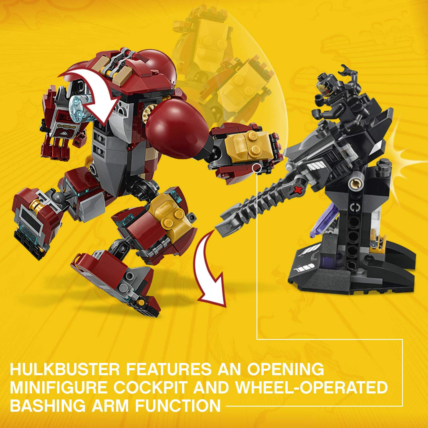 LEGO Marvel Super Heroes Avengers: Infinity War The Hulkbuster Smash-Up 76104 Building Kit (375 Piece) by LEGO (Image #4)