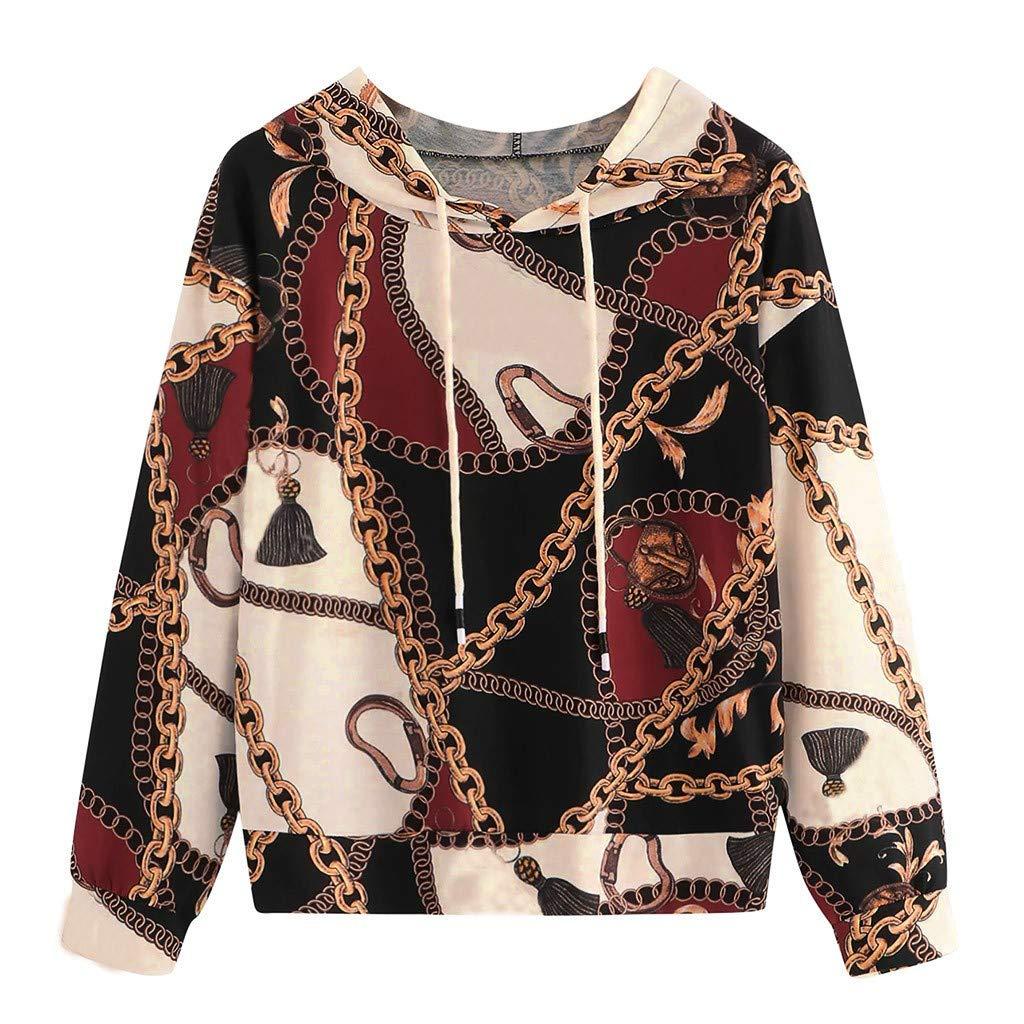 Rishine M-Neck Hoodie Long-Sleeved Camouflage Printed Sweatshirt Top