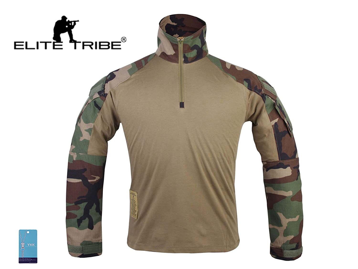 homme airsoft militaire chemise tactique Gen3 combat chemise Woodland Military Outdoor