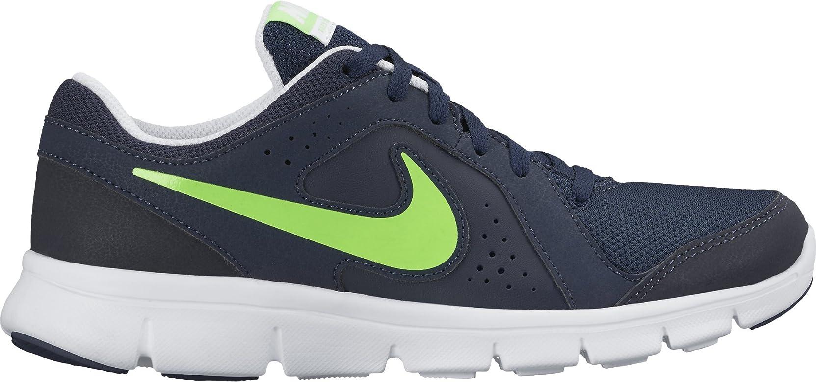Nike Flex Experience LTR (GS), Zapatillas de Running para Niños, Negro/Verde/Blanco (Obsidian/Voltage Green-White), 35 1/2 EU: Amazon.es: Zapatos y complementos