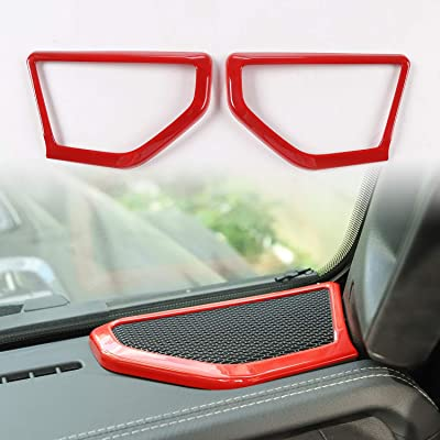 RT-TCZ Red ABS A pillar Speaker Decoration Cover Trim Stickers Car Interior Accessories for 2020-2020 Jeep Wrangler JL/JLU: Automotive