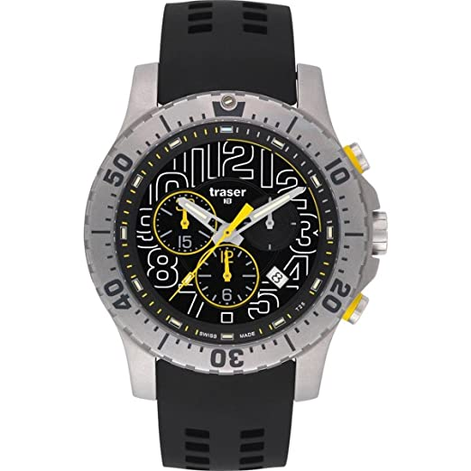 3e847b3b3f4 Traser H3 Ladies Watch Sport Elite chronograph 105858  Amazon.co.uk  Watches