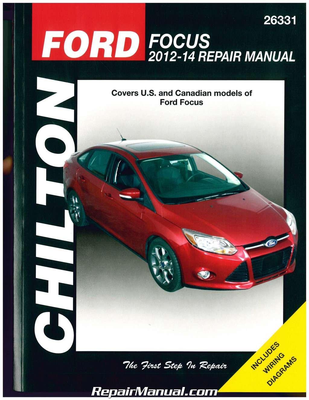 Amazon.com: CH26331 Ford Focus 2012 2013 2014 Chilton Repair Manual:  Automotive