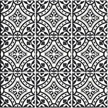 "Bleucoin Portugal Terracotta Inspired Tile stickers, Kitchen and Bathroom Backsplash Tile Decal, Stair Riser Stickers ,Peel & Stick Home Decor (3"" x 3"" Inches (Pack of 44), Grey)"