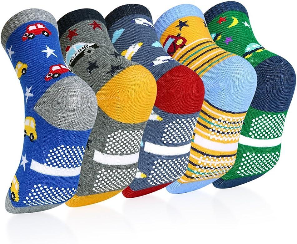 VBIGER 5 pares Niños Calcetines de Invierno Algodón Caliente Antideslizantes Calcetines 1-3 Años: Amazon.es: Ropa y accesorios