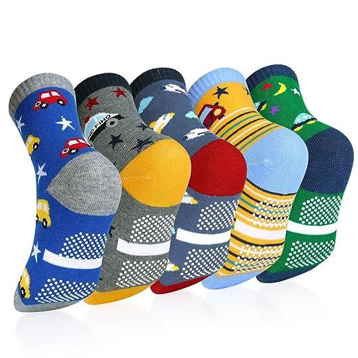 VBIGER 3-5 pares Niños Calcetines de Invierno Algodón Caliente Antideslizantes Calcetines 3-5 Años