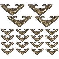 DELSEN 20 Stks Retro Ontwerp Doos Hoek Beschermers Beschermers Antieke Houten Doos Hoek, voor Decoratieve Kast Sieraden…