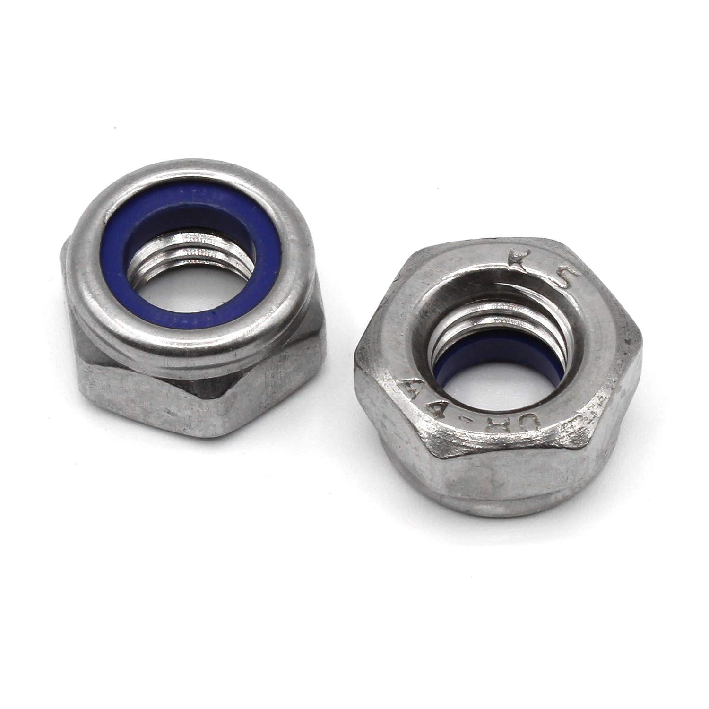 Écrou hexagonal autobloquant à la forme basse avec insert non métallique DIN 985 en acier inoxydable V4A AISI 316 Inox Trends of Trade