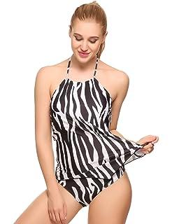 144add4a6d63b wearella Women's Tummy Control Swimwear Sexy 2 Piece High Waisted Bathing  Suits