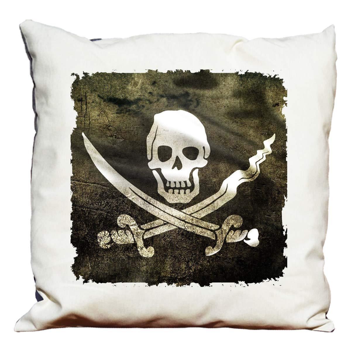 Cojín decorativo, diseño de bandera pirata: Amazon.es: Hogar